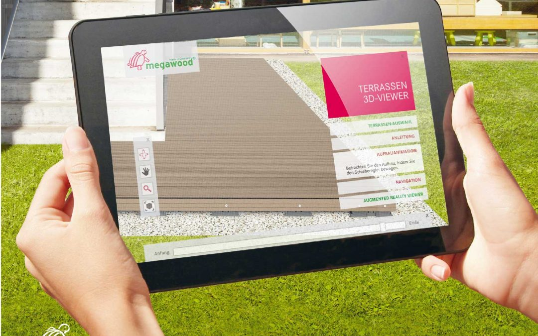 Terrassen visualisiert mit Mixed Reality
